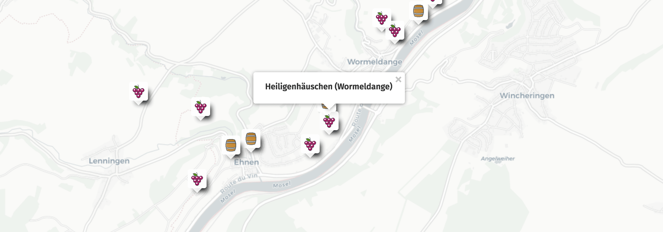 Geolocation of Heiligenhäuschen wines in Wormeldange