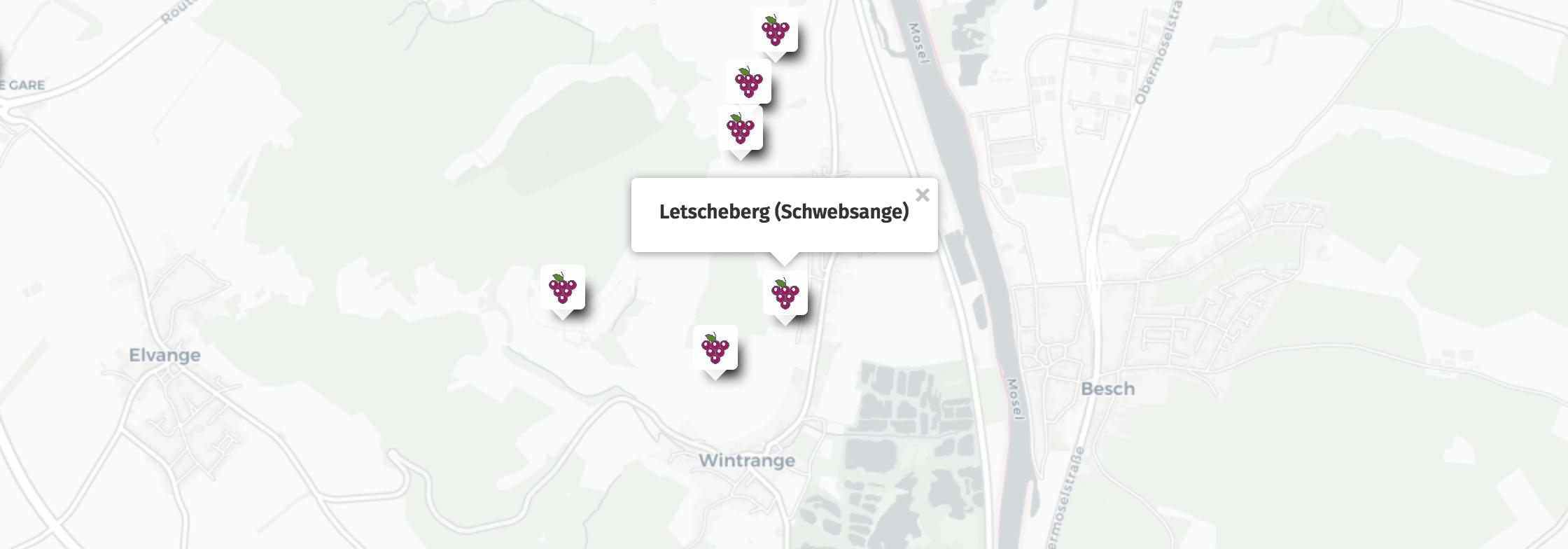 Geolocation of Letscheberg wines in Schwebsange