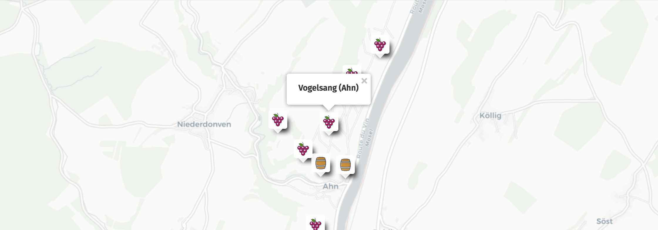 Geolocation of Vogelsang wines in Ahn